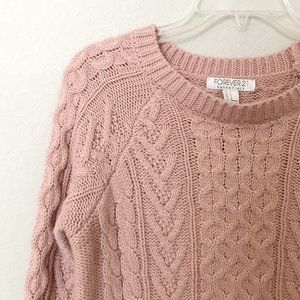 Forever 21 Essentials Chunky Cable Knit Sweater